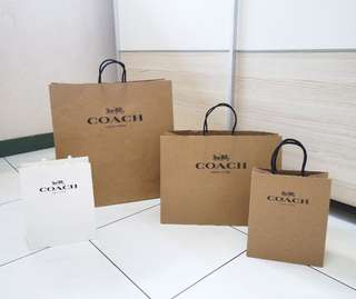Coach Authentic paperbag original branded paper bag