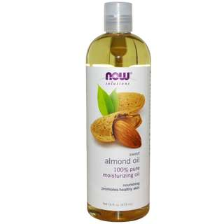 Now Foods Solutions Sweet Almond Oil 16 fl oz (473 ml) - 100% Authentic from USA. [IN-STOCK]