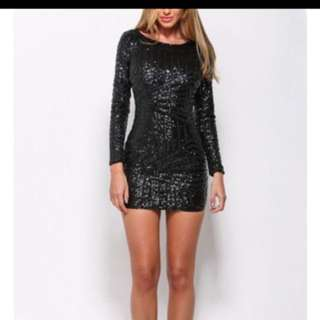 Small Sparkly Black Dynamite Dress