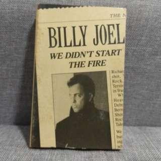 arthcs BILLY JOEL We Didn't Start The Fire USA Press Cassette Tape Single