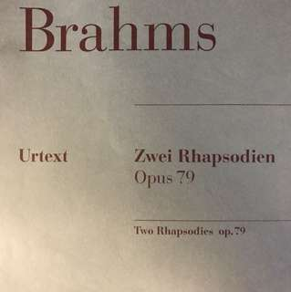 Brahms: Two Rhapsodies