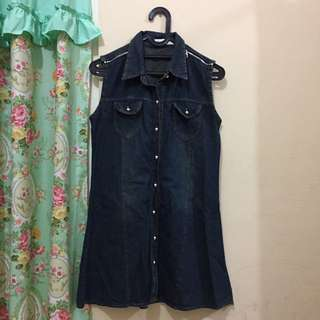 Rabbit house denim dress