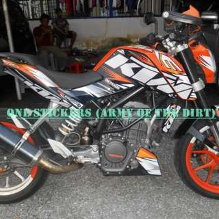 KTM DUKE 200 / 390 DECAL KIT