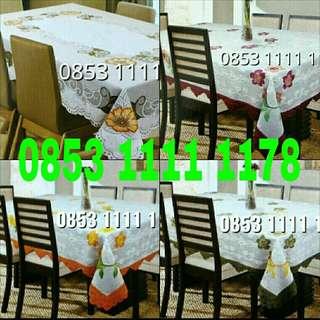 Taplak meja makan (ukuran 6-8 kursi)