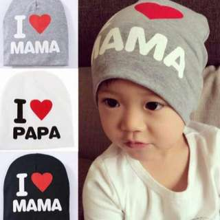 Cute hat i love mama papa