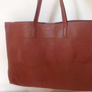 Zalora Leather Tote Beg