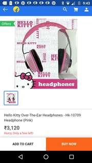Hello kitty headphones.