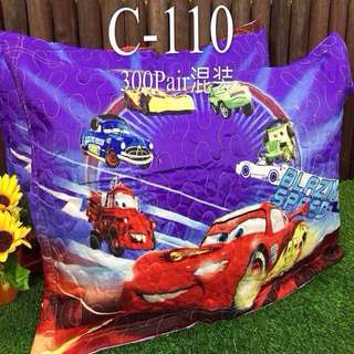 Cars Pair of Pillow Cases with Zipper