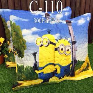 Minions Pair of Pillow Cases with Zipper