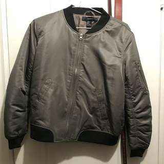 Black and green bomber