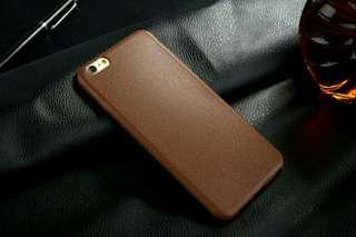 JUAL MURAH IPHONE LEATHER LOOK SOFT CASE (Bahan Sillicon)