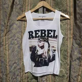 Rebel Print Tank Top