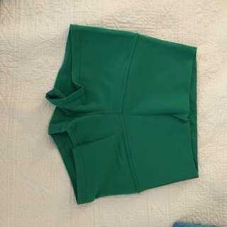 Lululemon reversible green shorts