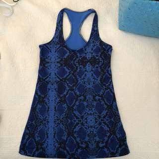 Lululemon blue snake tank top