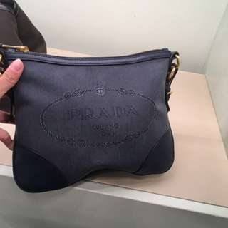 Prada 牛仔布斜咩袋 皮袋 Handbags crossbody