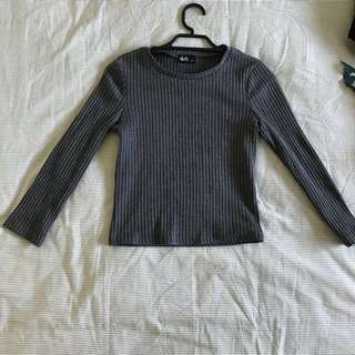 Dotti Long Sleeve Crop Top Size XS