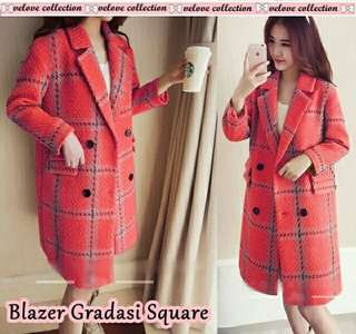 Blazer gradasi square red
