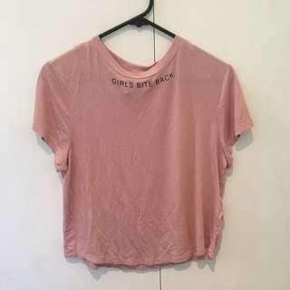 H&M pink tshirt