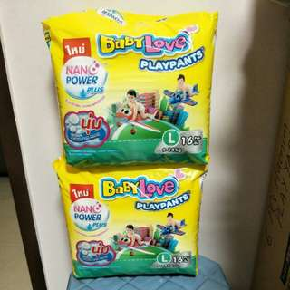 Baby love play pants diapers