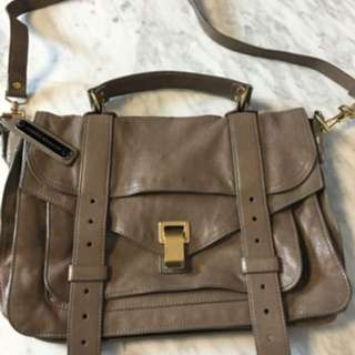 PS1 Medium Proenza Schouler Latte Colour Leather Bag 名牌 真皮 奶茶色 袋 包