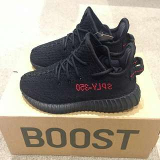 baby ADIDAS boost YEEZY black red US 6K like new shoes SNEAKERS
