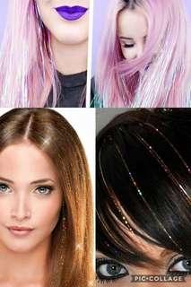 HAIR TINSEL • HAIR BLING • HAIR SPARKLE