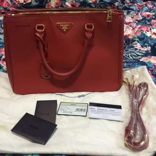 Prada saffiano red