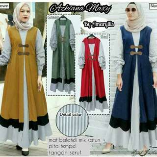 INS - 0118 - Dress Wanita Azkiana Maxy