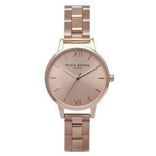Olivia Burton Midi Dial Rose Gold Bracelet Watch