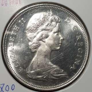 1966加拿大一元銀幣