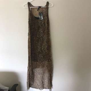 Forever new animal print tank dress