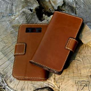 Samsung A5 皮革手機套 手機殼 手製銀包 leather phone case cover wallet