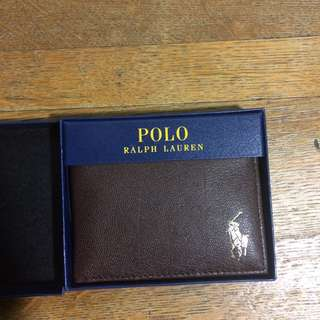 Ralph Lauren Polo Brown Leather Wallet