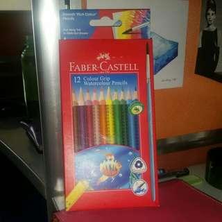 Faber-Castell 12 Colour Grip Watercolour Pencils