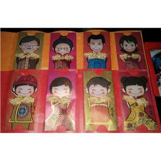 8 pcs Lay's Complete Set of Red Packets / Ang Bao Pao Pau Pow