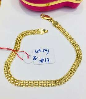 Authentic real gold 18k bracelet