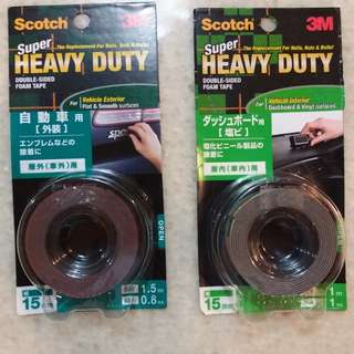 3M (Super Heavy Duty Foam Tape) For Vehicle Exterior & Interior