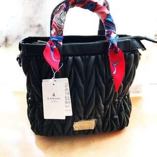 日本購入🇯🇵貴婦Lanvin Bag Authentic 有斜咩帶 手袋包包 靚過miu miu 軟