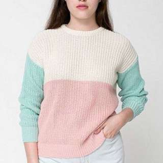 American apparel colourblock sweater