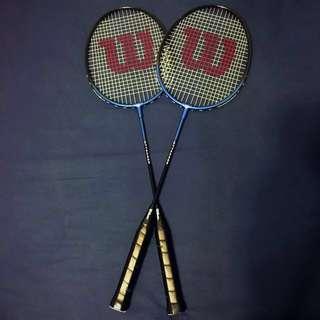 2 Wilson Badminton rackets