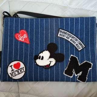 Disney 迪士尼 韓版 韓國直送 米奇老鼠 Mickey Mouse 手拿包  附背帶