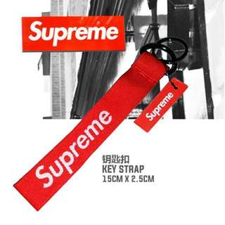 SUPREME 个性 时尚 钥匙扣 汽车改装用品 supreme