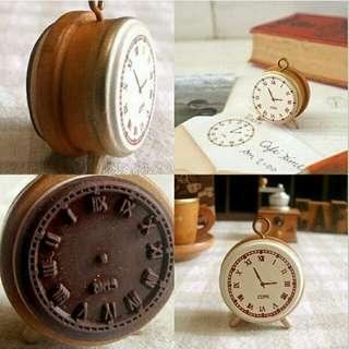 Vintage Clock Stamp