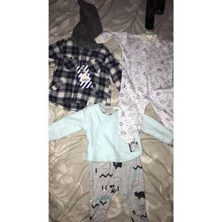 3-6 months brand new baby boys clothes