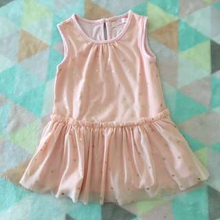 GINGERSNAPS Peach Stars Dress