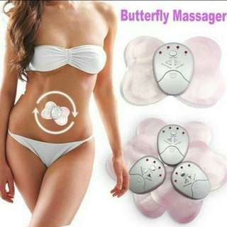 Electronic body muscle butterfly massager slimming vibration