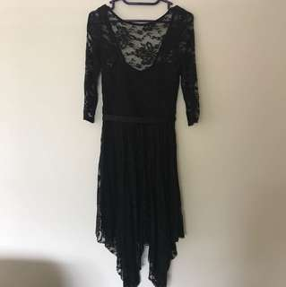 Forever new black lace dress size 6
