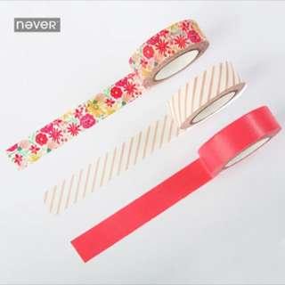 Floral washi tape set