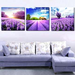 Decorative paintings printed on canvas