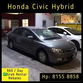 Honda Civic Hybrid - Grab Car Rental